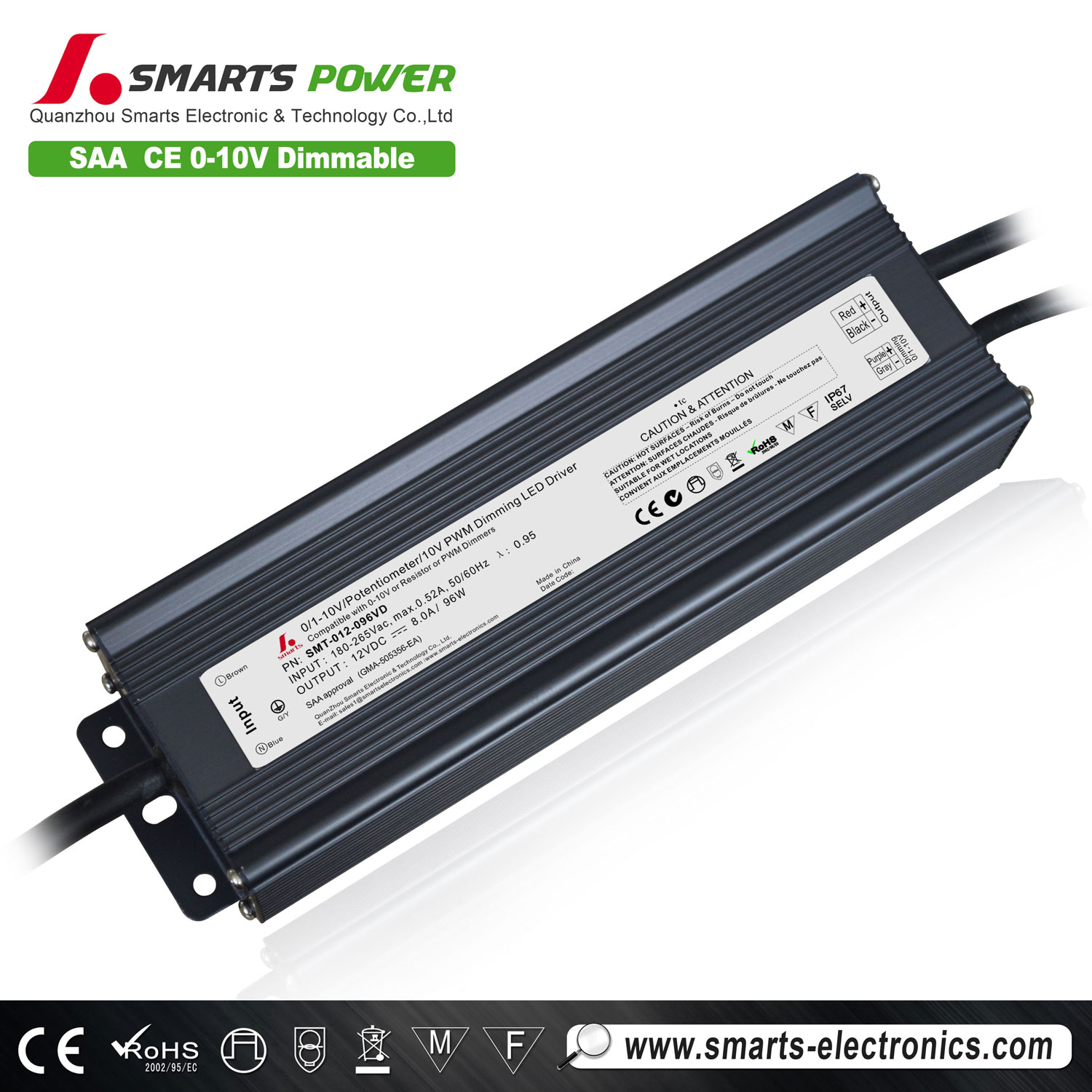 dimmable led driver 96w