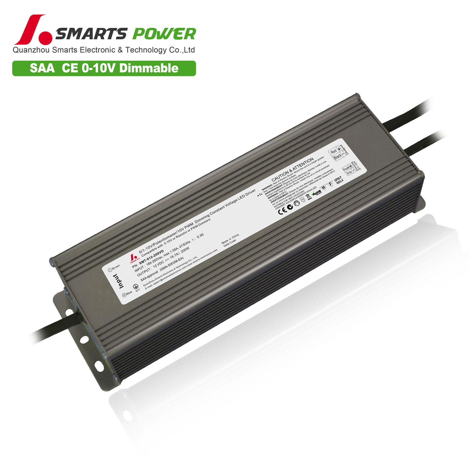 0-10v dimmable led driver for led light
