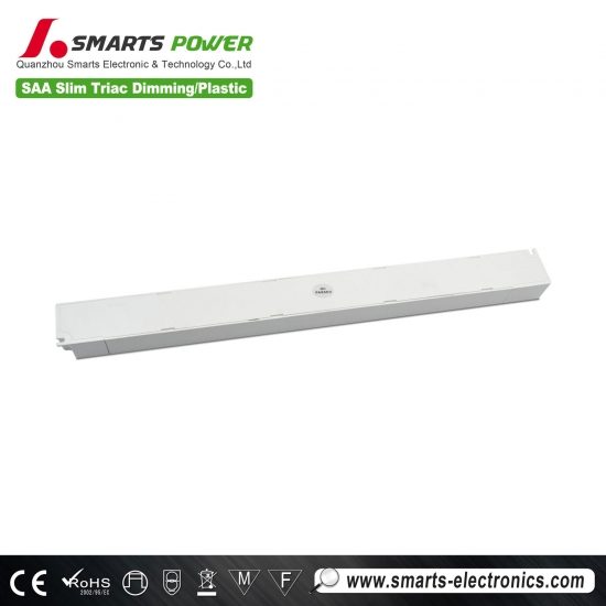 SAA lisated 12v 24v 30w slim triac dimmable with plastic case